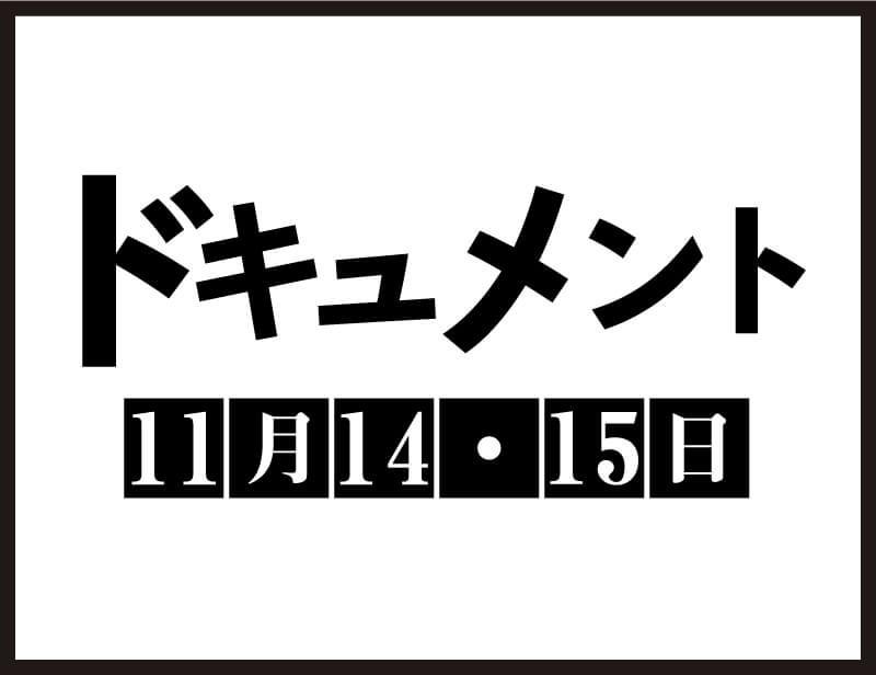 ドキュメント・11月14・15日