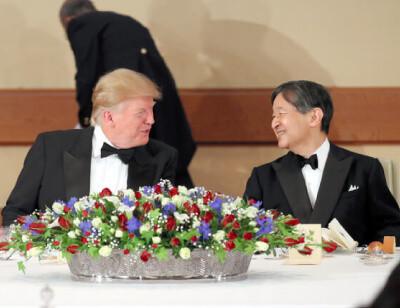 天皇陛下とトランプ大統領