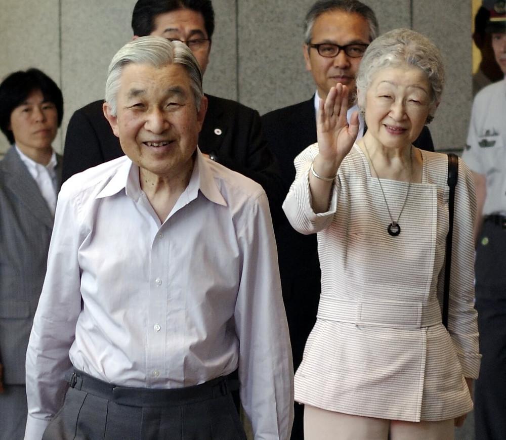 笑顔の上皇殿下と上皇后陛下