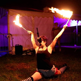 Tisted Sarah Fire Performing