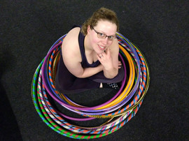 Violet with her Hoop Collection