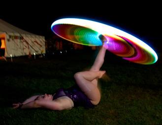 Violet LED foot hooping