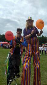 Pride Stilt Walkers