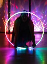 Violet LED hoop performance