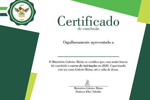 Certificado de Formatura - GM