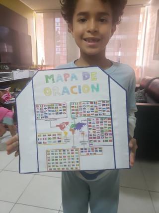 Gedeones Kids Venezuela orando pelo Brasil e Nações
