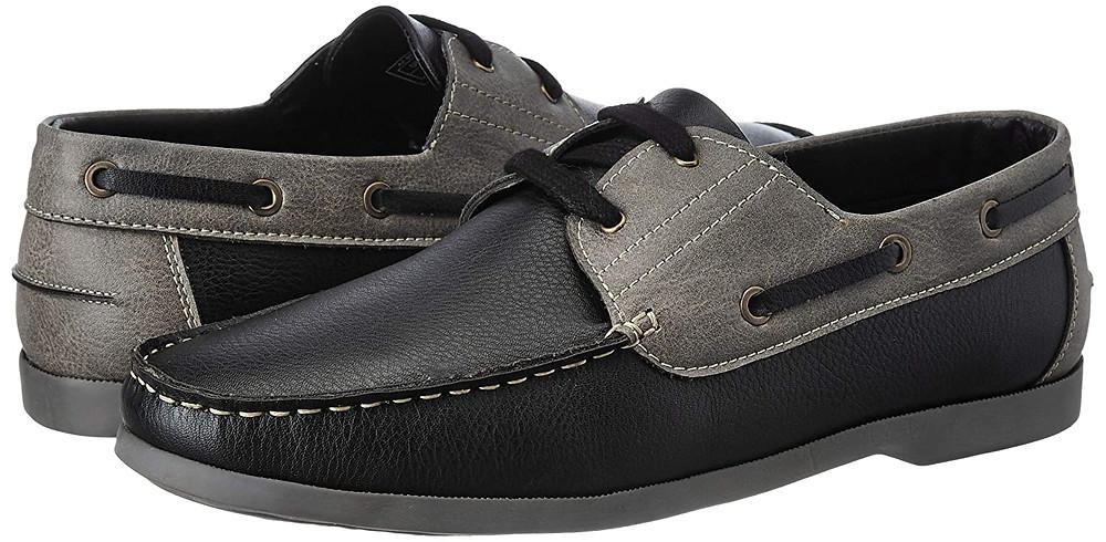 Black grey boat shoe