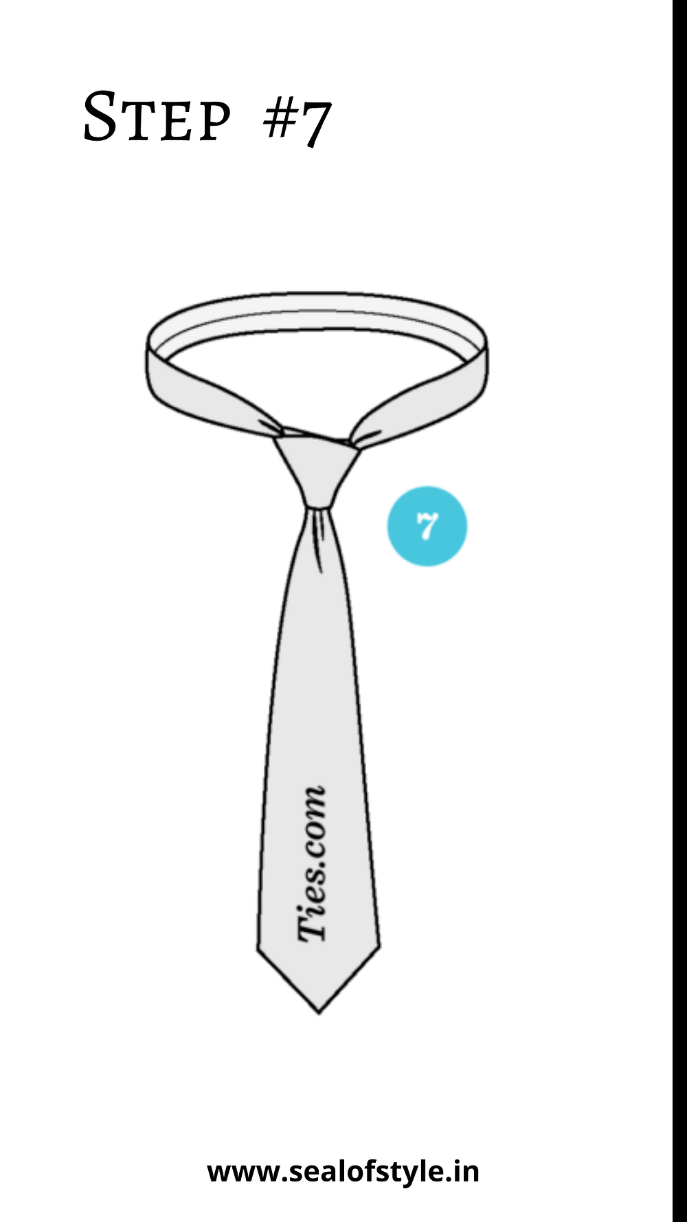 Steps to tie knot