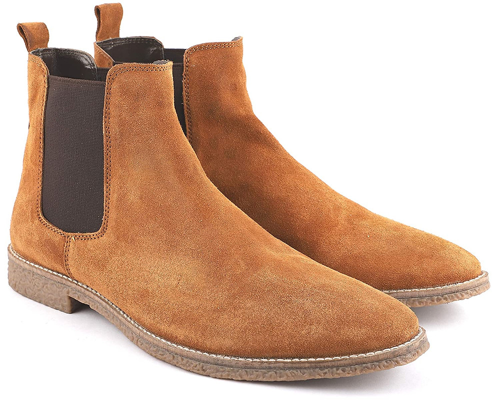 Brown chealsea boots