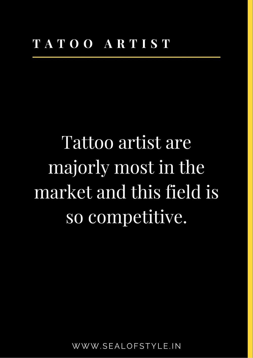 Information about tattoo artist.