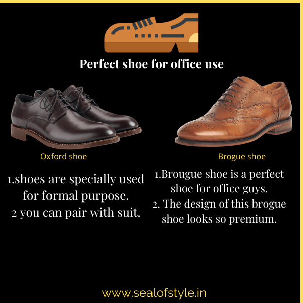 Infograph about the formal shoes for office use