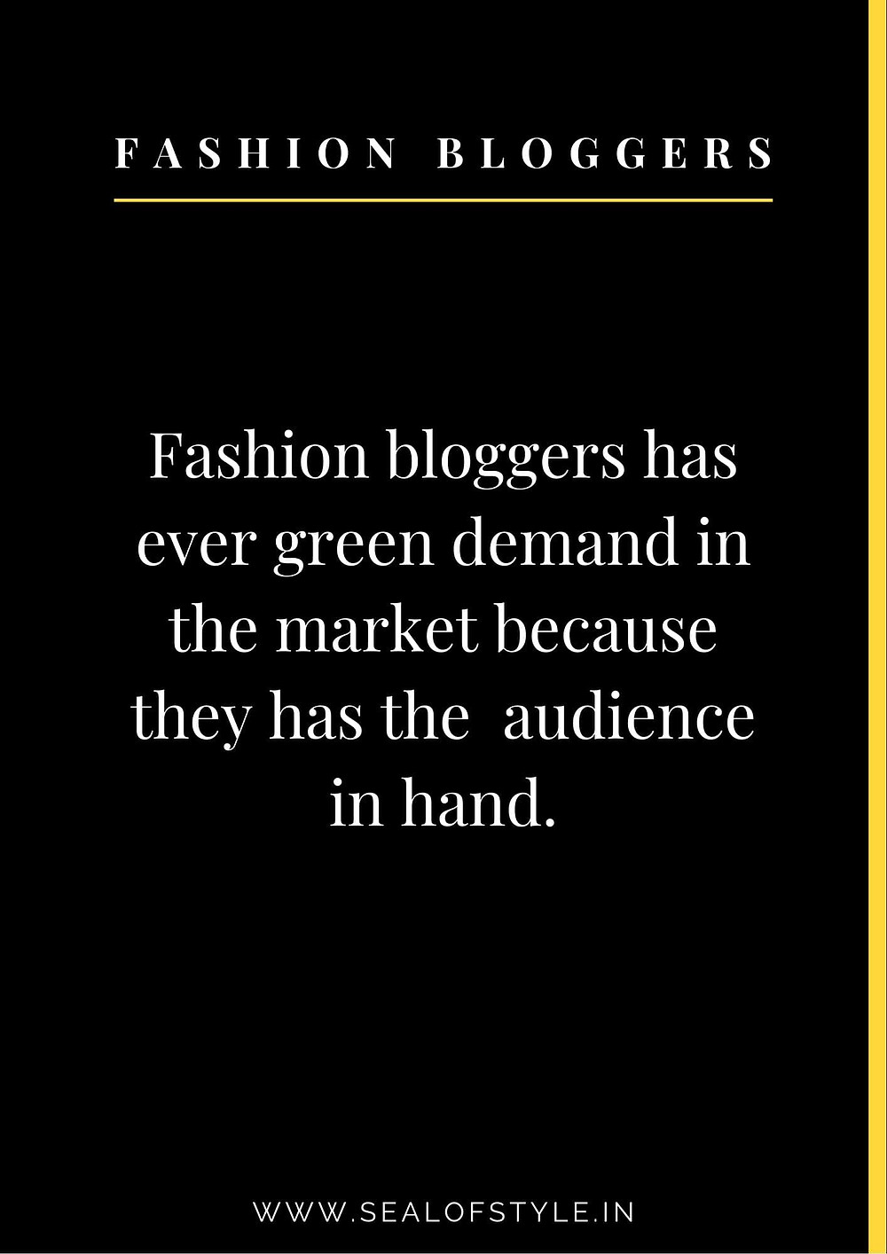 Information about fashion blogger in future