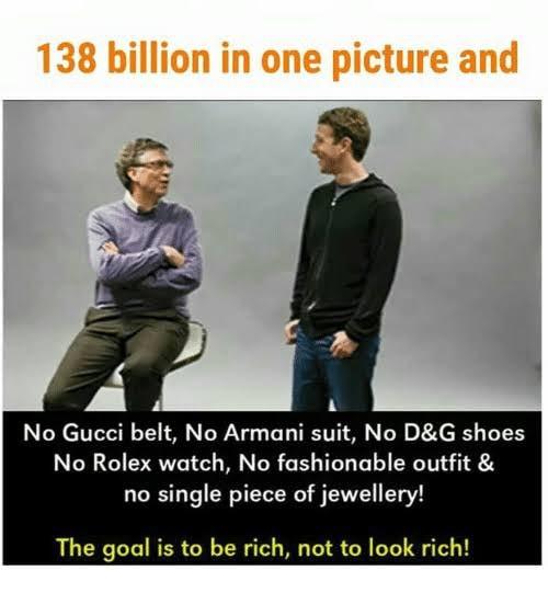 bill gates,zukerberg,cheap clothes
