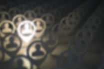 Rows of people icon with one person highlighted