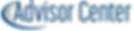 Advisor Center logo with blue swoop