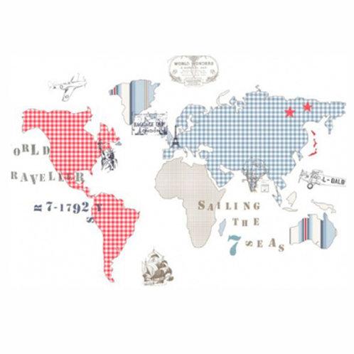 mapa mundo 2 azul - rojo
