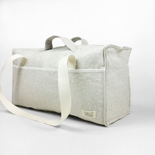 bolsa de maternidad ministar lino/blanco
