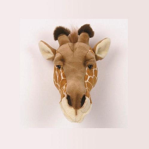 cabeza de peluche de jirafa