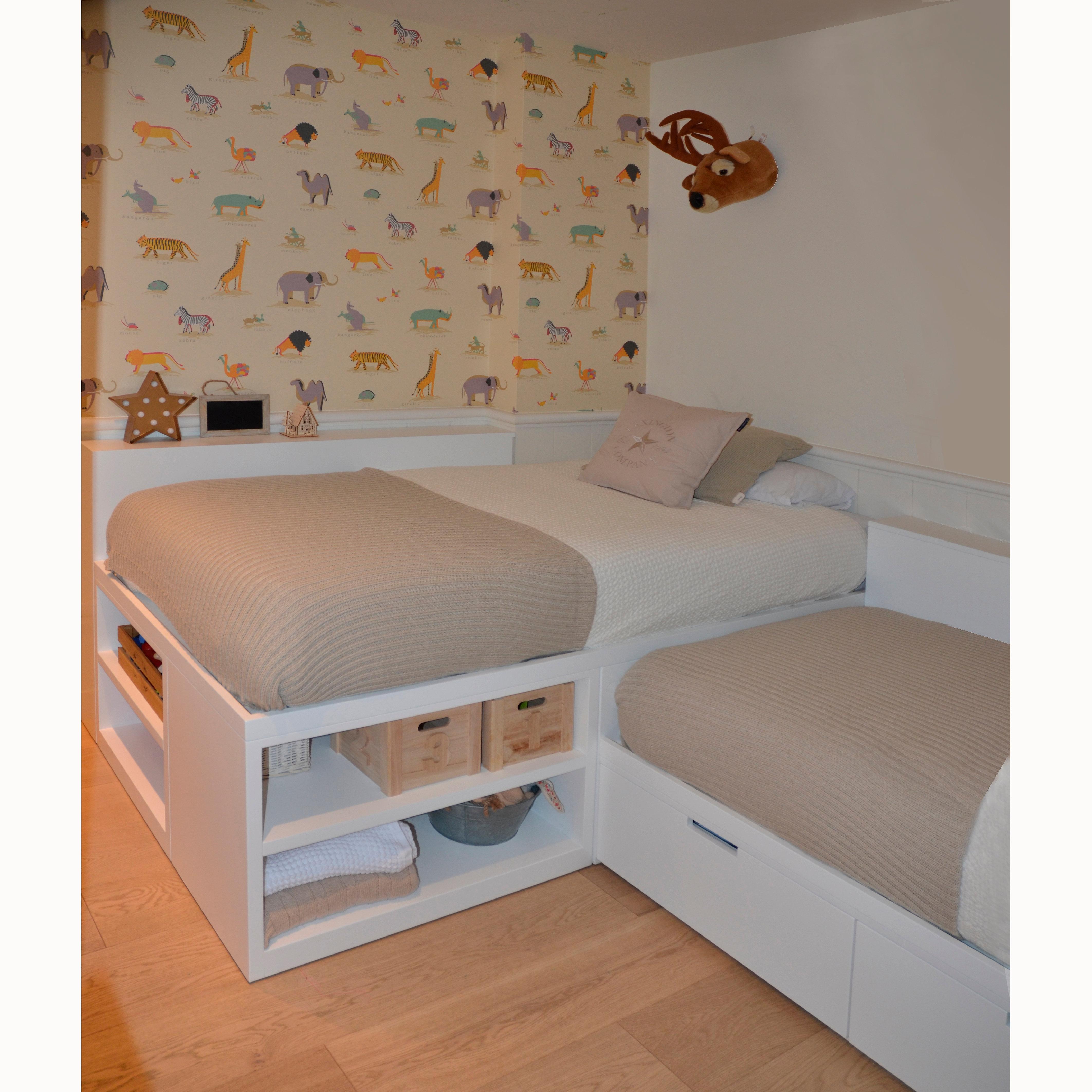 Cama con armario debajo best tamao montado with cama con for Cama nido alta con cajones