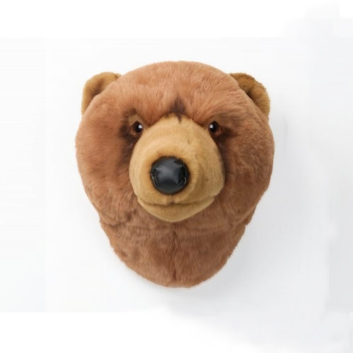 cabeza de peluche de oso pardo