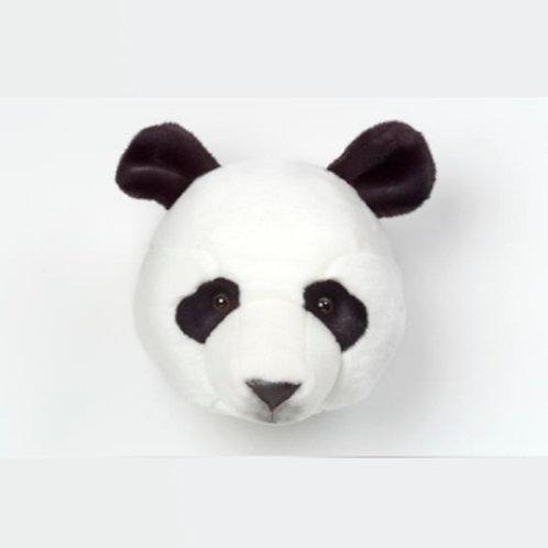 cabeza de peluche de oso panda