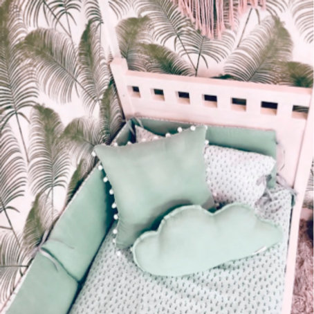 funda nórdica + almohada y protector cuna CACTUS