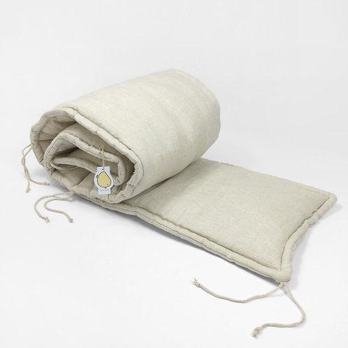 protector de cuna en lino