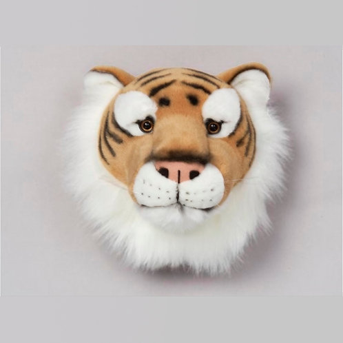 cabeza de peluche de tigre