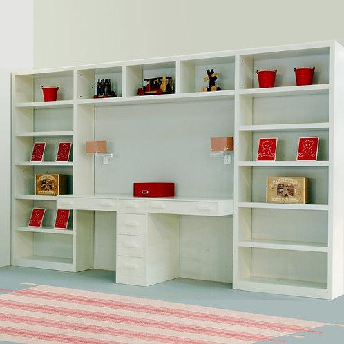librerías puente con escritorio