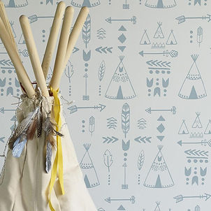 Hibou_Home_Teepees_wallpaper_Storm_Green