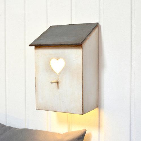 lámpara casita  corazón
