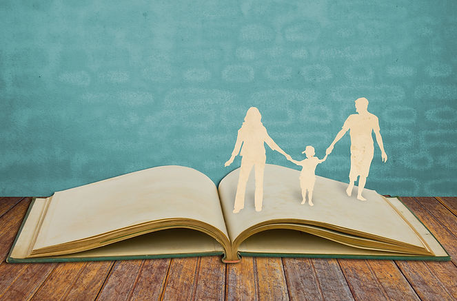 bigstock-Paper-cut-family-symbol-on-old-