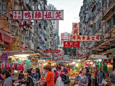 Vendas de flores secas em Hong Kong