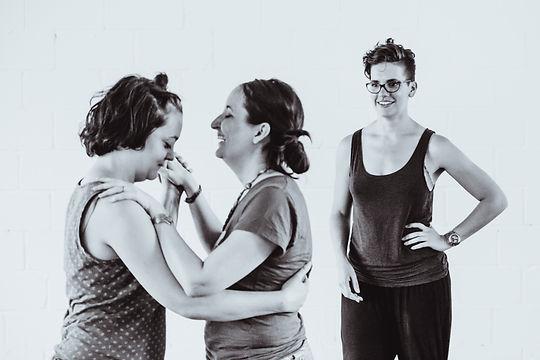 Dance teacher with same sex couple