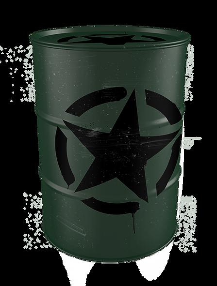 tambor tonel decorativo personalizado