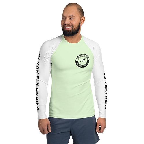Men's Rash Guard Seafoam Green and White