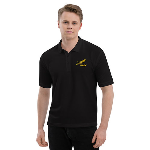 Men's Premium Polo Black with Gold Logo
