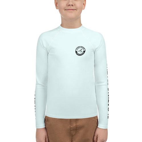 Youth Rash Guard Seafoam Blue