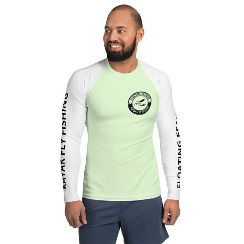Men's Rash Guard Seafoam Green and White