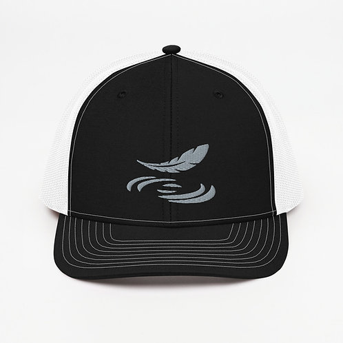 Trucker Cap with Feather Logo Dark Colors