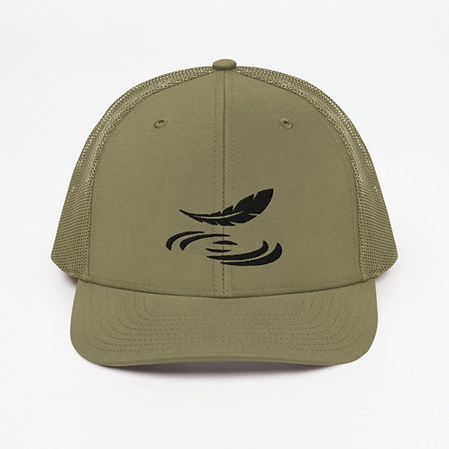 Trucker Cap with Feather Logo