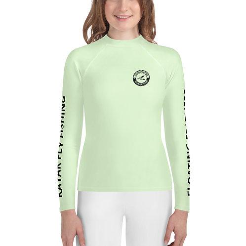 Youth Rash Guard Seafoam Green