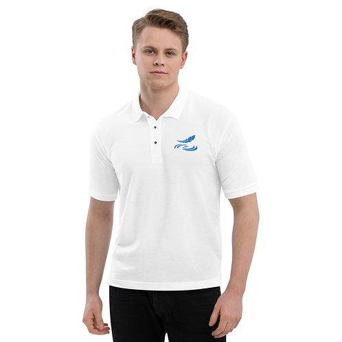 Men's Premium Polo Blue Logo
