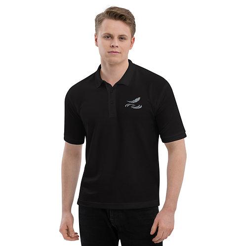 Men's Premium Polo Black with Gray Logo