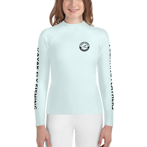 Youth Rash Guard Seafoam Blue