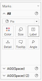 Change Mark Type to Pie