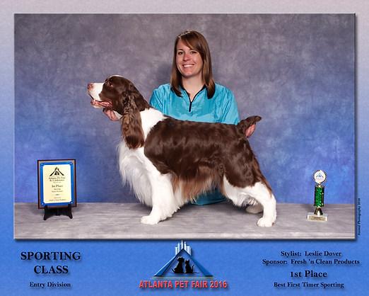 1st Place Sporting Class Atlanta Pet Fair 2016 Leslie Dover