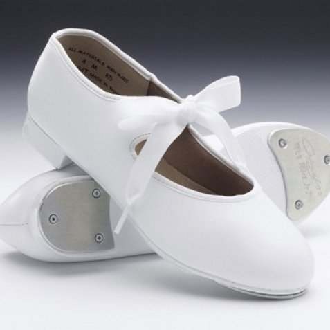 Girls White Tap Shoes