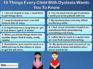 Understanding kids with Dyslexia
