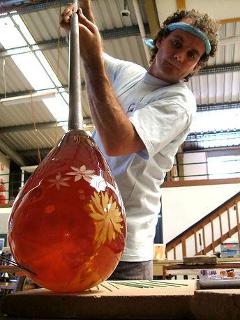 Jonathon Westacott glassblowing